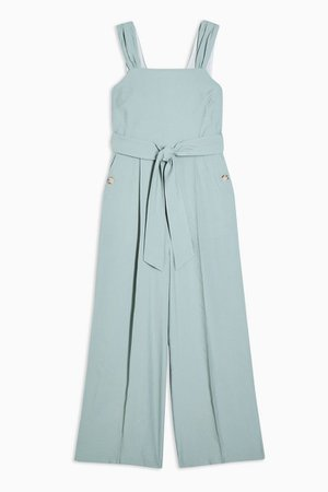 Tie Belt Pinafore Jumpsuit | Topshop