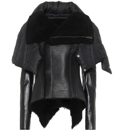 Rick Owens, Naska Shearling And Leather Jacket