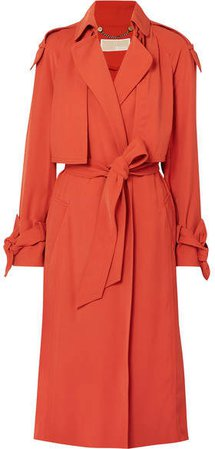 Belted Cady Trench Coat - Brick