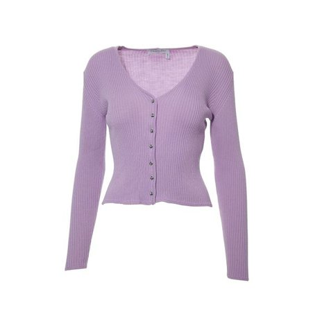 Christian Dior's classic rib knit sweater in Lilac