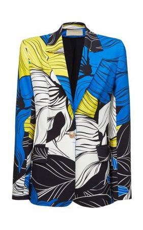 Printed Crepe Blazer By Elie Saab | Moda Operandi