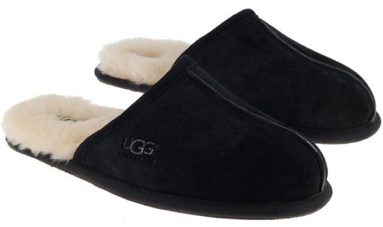 UGGS Black Shearling Slippers