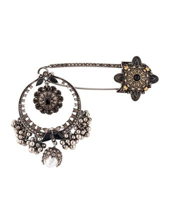 Alexander McQueen Kilt Safety Pin Brooch - Brooches - ALE63518 | The RealReal