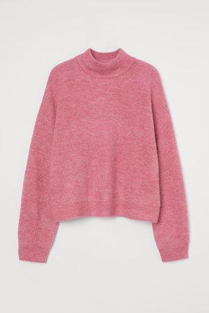 Wide jumper - Pink - Ladies   H&M GB