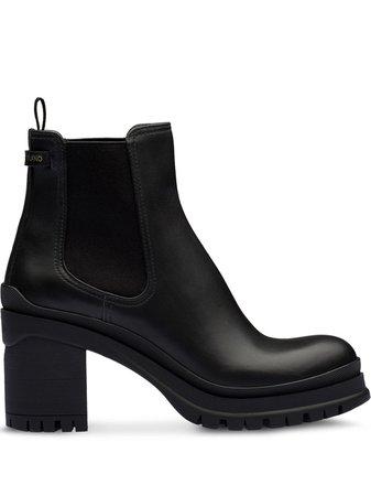 Prada Chunky Heel Ankle Boots | Farfetch.com
