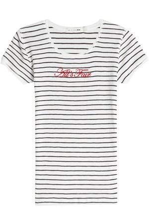 All's Fair Embroidered Cotton T-Shirt Gr. M
