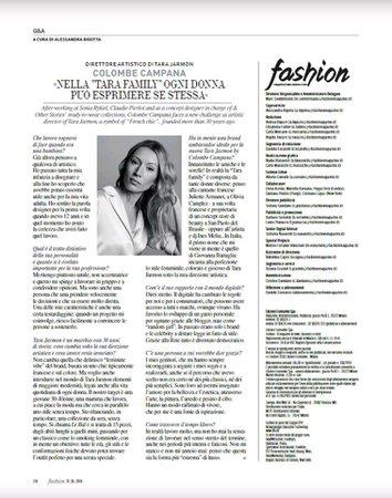 Il lusso parigino di Tara Jarmon presente su La Repubblica e su Fashion Magazine - YourImage