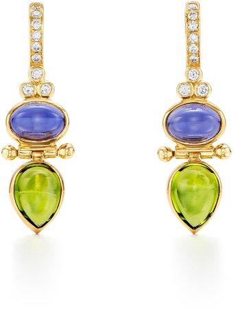 Foglia Double Drop Earrings