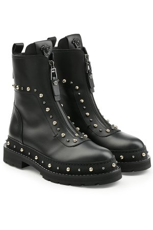 Embellished Leather Ankle Boots Gr. IT 37