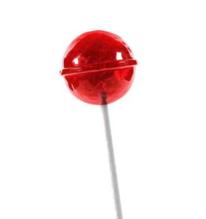aesthetic png red lollipop