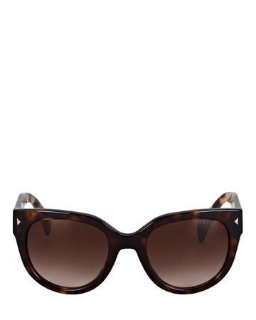 Prada Rounded Square Sunglasses | INTERMIX®