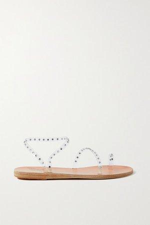 Apli Eleftheria Swarovski Crystal-embellished Pvc Sandals - Clear
