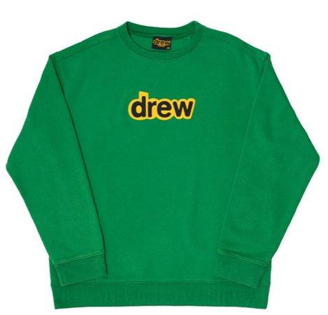 Drew green sweater crew neck sweatshirt