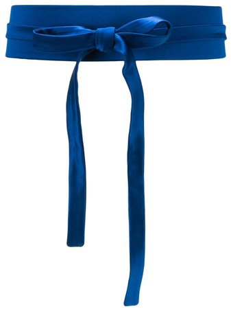 Blue Gianluca Capannolo Victoria wide belt 20EC02350 - Farfetch