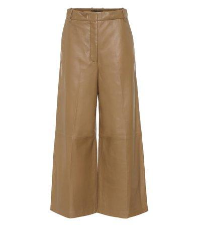 Joseph - Tuba wide-leg leather pants | Mytheresa