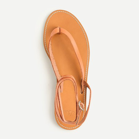 J.Crew: Leather Ankle-wrap Thong Sandals For Women
