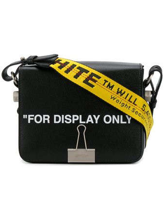"Off White ""For Display Only"" Leather Shoulder Bag"