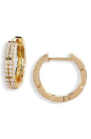 Bony Levy Katherine Pavé Diamond Hoop Earrings (Nordstrom Exclusive) | Nordstrom
