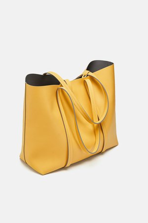 YELLOW SHOPPER BAG - Shoulder bags-BAGS-WOMAN | ZARA Canada