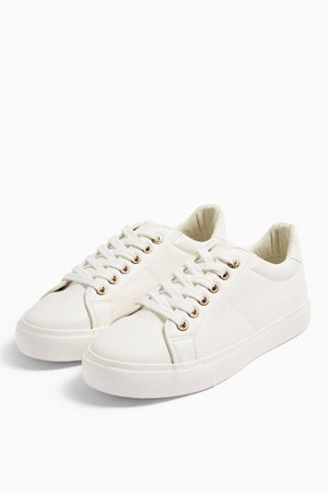 CAMDEN White Lace Up Trainers | Topshop