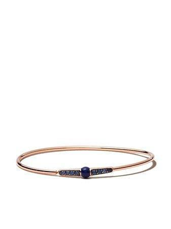 Pomellato 18Kt Rose Gold M'Ama Non M'Ama Lapis Lazuli And Sapphire Bangle | Farfetch.com