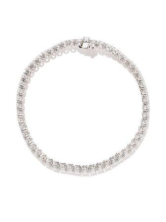 AS29 18kt White Gold Round Diamond Bracelet - Farfetch