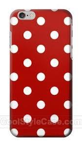 red polka dot phone case