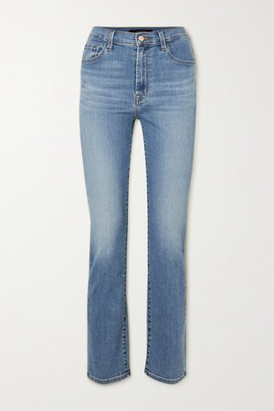 Teagan High-rise Straight-leg Jeans - Mid denim
