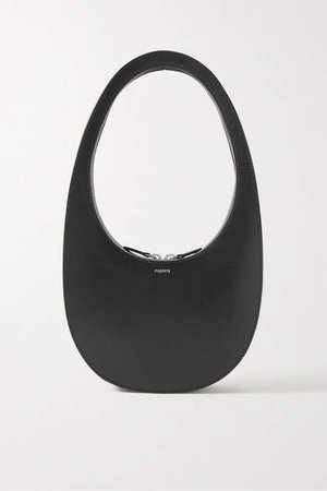Swipe Leather Tote - Black