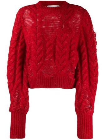 Stella McCartney Laddered cable-knit Jumper - Farfetch