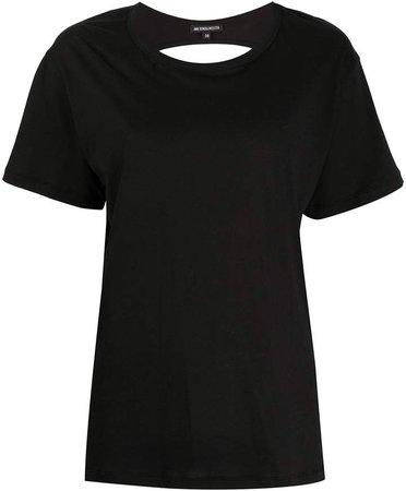 back cut-out T-shirt