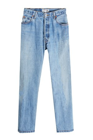 High Rise Ankle Crop Straight Leg Jeans Gr. 30