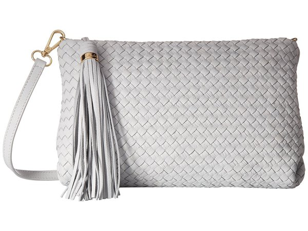 Sam Edelman - Galya Woven Clutch (White) Clutch Handbags