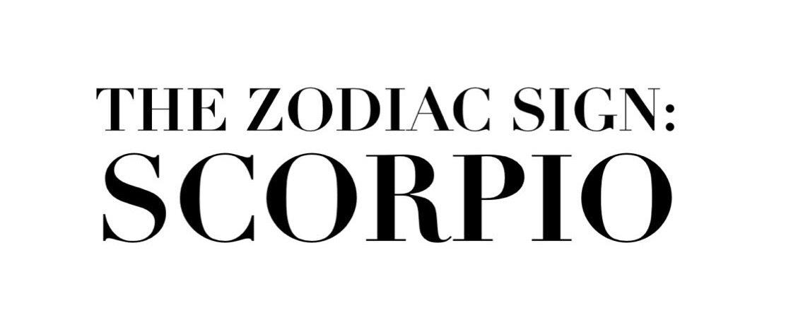 the zodiac sign scorpio text