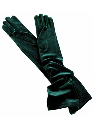 Green Velvet gloves