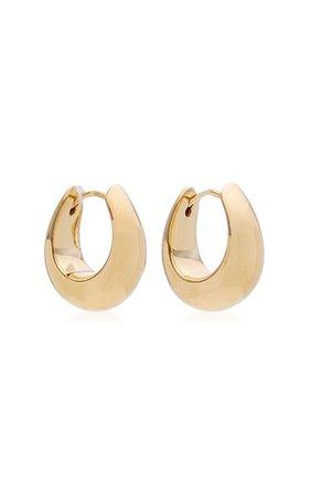 Small Ice Hoop Gold-Plated Earrings By Tom Wood | Moda Operandi