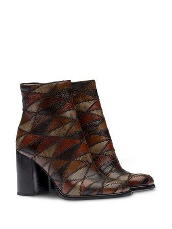 Miu Miu Geometric Pattern Ankle Boots - Farfetch