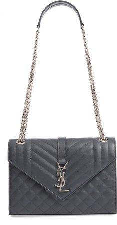 Medium Envelope Calfskin Shoulder Bag