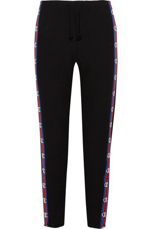 Vetements + Champion | cotton-blend jersey track pants