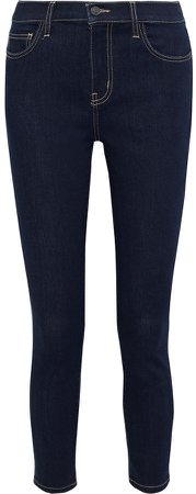 The Stiletto Cropped High-rise Skinny Jeans