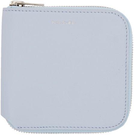 Acne Studios: Blue Csarite S Wallet | SSENSE