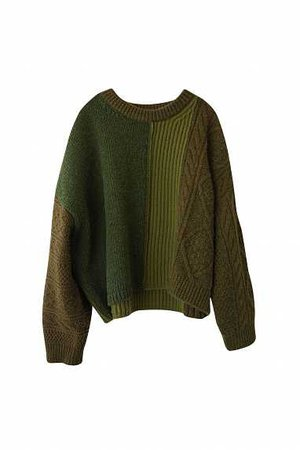 acne studios khaki pine knit