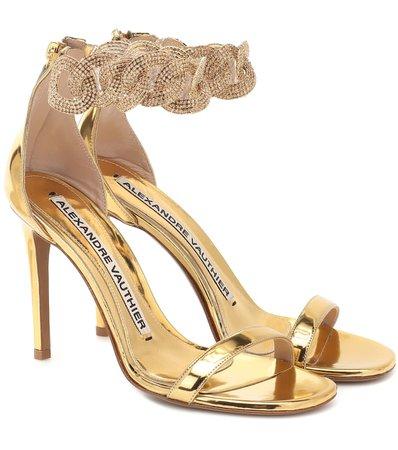Alexandre Vauthier - Elsa embellished leather sandals | Mytheresa
