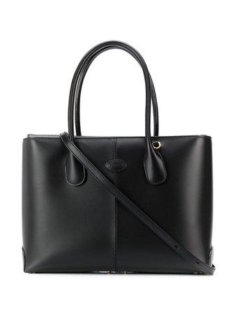 Embossed Logo Shopper Tote Bag