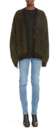 Rives Mohair & Wool Blend Cardigan