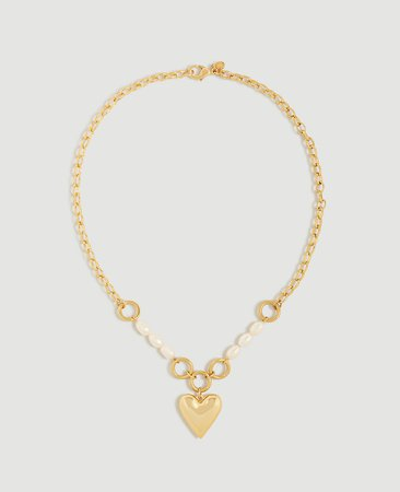 Heart Chain Necklace | Ann Taylor