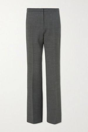 Woven Straight-leg Pants - Gray