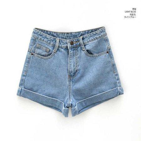 Buy chuu Cuffed Denim Shorts   YesStyle