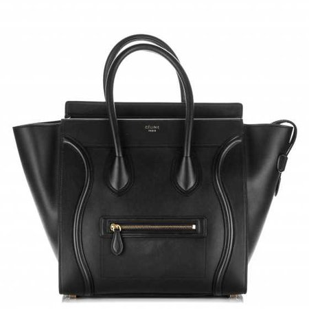 CELINE Smooth Calfskin Mini Luggage Black 180217