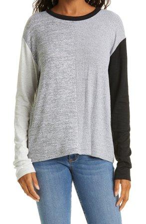 Women's The Knit Colorblock Crewneck T-Shirt   Nordstrom